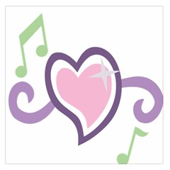 Sweetie Belle s Love Heart Star Music Note Green Pink Purple Large Satin Scarf (Square)