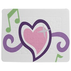 Sweetie Belle s Love Heart Star Music Note Green Pink Purple Jigsaw Puzzle Photo Stand (Rectangular)