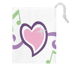 Sweetie Belle s Love Heart Star Music Note Green Pink Purple Drawstring Pouches (XXL)