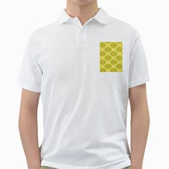 Sunflower Floral Yellow Blue Circle Golf Shirts