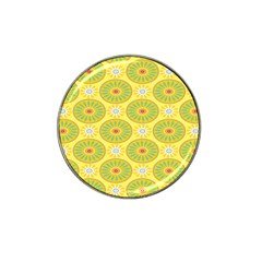 Sunflower Floral Yellow Blue Circle Hat Clip Ball Marker (10 pack)