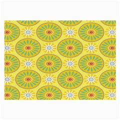 Sunflower Floral Yellow Blue Circle Large Glasses Cloth