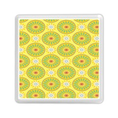 Sunflower Floral Yellow Blue Circle Memory Card Reader (Square)