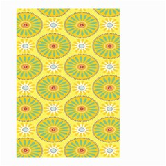 Sunflower Floral Yellow Blue Circle Small Garden Flag (Two Sides)