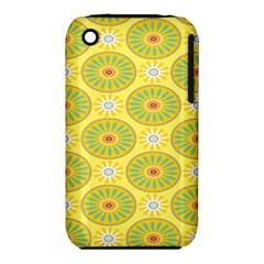 Sunflower Floral Yellow Blue Circle iPhone 3S/3GS
