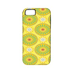 Sunflower Floral Yellow Blue Circle Apple iPhone 5 Classic Hardshell Case (PC+Silicone)
