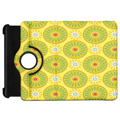 Sunflower Floral Yellow Blue Circle Kindle Fire HD 7