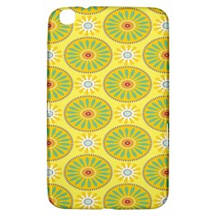 Sunflower Floral Yellow Blue Circle Samsung Galaxy Tab 3 (8 ) T3100 Hardshell Case