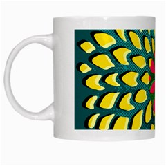 Sunflower Flower Floral Pink Yellow Green White Mugs