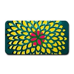 Sunflower Flower Floral Pink Yellow Green Medium Bar Mats