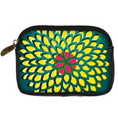Sunflower Flower Floral Pink Yellow Green Digital Camera Cases