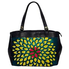 Sunflower Flower Floral Pink Yellow Green Office Handbags