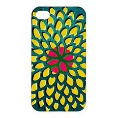 Sunflower Flower Floral Pink Yellow Green Apple iPhone 4/4S Hardshell Case