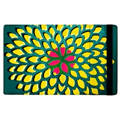 Sunflower Flower Floral Pink Yellow Green Apple iPad 3/4 Flip Case