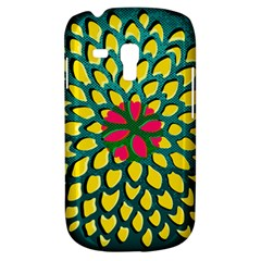 Sunflower Flower Floral Pink Yellow Green Galaxy S3 Mini