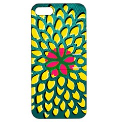 Sunflower Flower Floral Pink Yellow Green Apple iPhone 5 Hardshell Case with Stand
