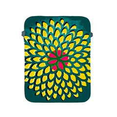 Sunflower Flower Floral Pink Yellow Green Apple iPad 2/3/4 Protective Soft Cases
