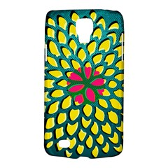 Sunflower Flower Floral Pink Yellow Green Galaxy S4 Active