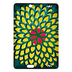 Sunflower Flower Floral Pink Yellow Green Amazon Kindle Fire HD (2013) Hardshell Case