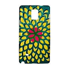 Sunflower Flower Floral Pink Yellow Green Samsung Galaxy Note 4 Hardshell Case