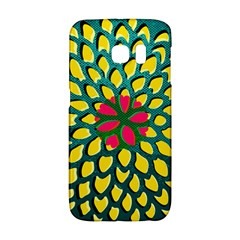 Sunflower Flower Floral Pink Yellow Green Galaxy S6 Edge