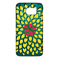 Sunflower Flower Floral Pink Yellow Green Galaxy S6
