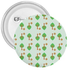 Tree Circle Green Yellow Grey 3  Buttons