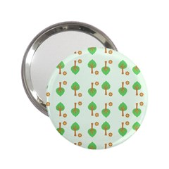 Tree Circle Green Yellow Grey 2 25  Handbag Mirrors