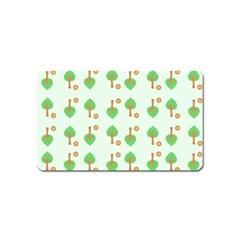 Tree Circle Green Yellow Grey Magnet (Name Card)