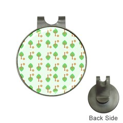 Tree Circle Green Yellow Grey Hat Clips with Golf Markers