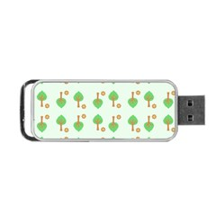 Tree Circle Green Yellow Grey Portable USB Flash (One Side)