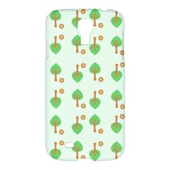 Tree Circle Green Yellow Grey Samsung Galaxy S4 I9500/I9505 Hardshell Case