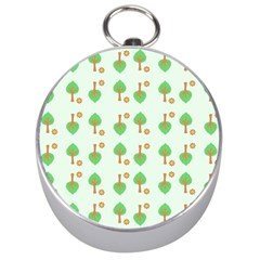 Tree Circle Green Yellow Grey Silver Compasses