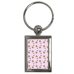Tree Circle Purple Yellow Key Chains (Rectangle)