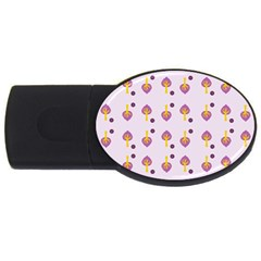 Tree Circle Purple Yellow USB Flash Drive Oval (4 GB)