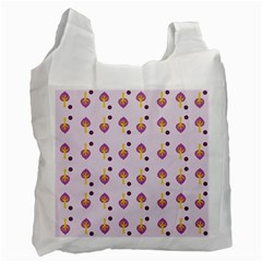 Tree Circle Purple Yellow Recycle Bag (Two Side)
