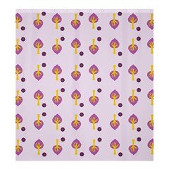 Tree Circle Purple Yellow Shower Curtain 66  x 72  (Large)