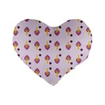 Tree Circle Purple Yellow Standard 16  Premium Heart Shape Cushions Front