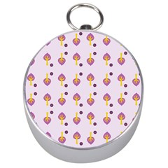 Tree Circle Purple Yellow Silver Compasses