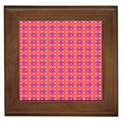 Roll Circle Plaid Triangle Red Pink White Wave Chevron Framed Tiles