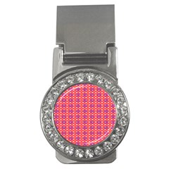 Roll Circle Plaid Triangle Red Pink White Wave Chevron Money Clips (cz)