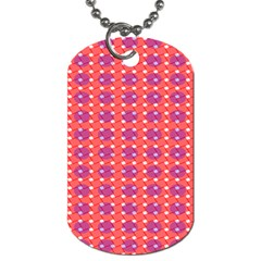 Roll Circle Plaid Triangle Red Pink White Wave Chevron Dog Tag (One Side)