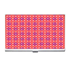 Roll Circle Plaid Triangle Red Pink White Wave Chevron Business Card Holders