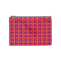 Roll Circle Plaid Triangle Red Pink White Wave Chevron Cosmetic Bag (medium)