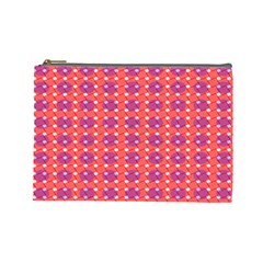 Roll Circle Plaid Triangle Red Pink White Wave Chevron Cosmetic Bag (large)