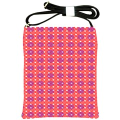 Roll Circle Plaid Triangle Red Pink White Wave Chevron Shoulder Sling Bags