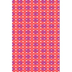Roll Circle Plaid Triangle Red Pink White Wave Chevron 5.5  x 8.5  Notebooks