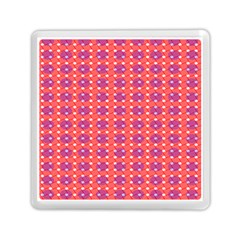 Roll Circle Plaid Triangle Red Pink White Wave Chevron Memory Card Reader (Square)