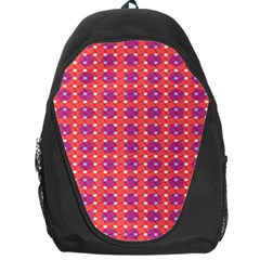 Roll Circle Plaid Triangle Red Pink White Wave Chevron Backpack Bag
