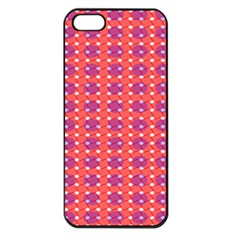 Roll Circle Plaid Triangle Red Pink White Wave Chevron Apple iPhone 5 Seamless Case (Black)